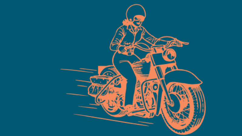 motorcycle girl art